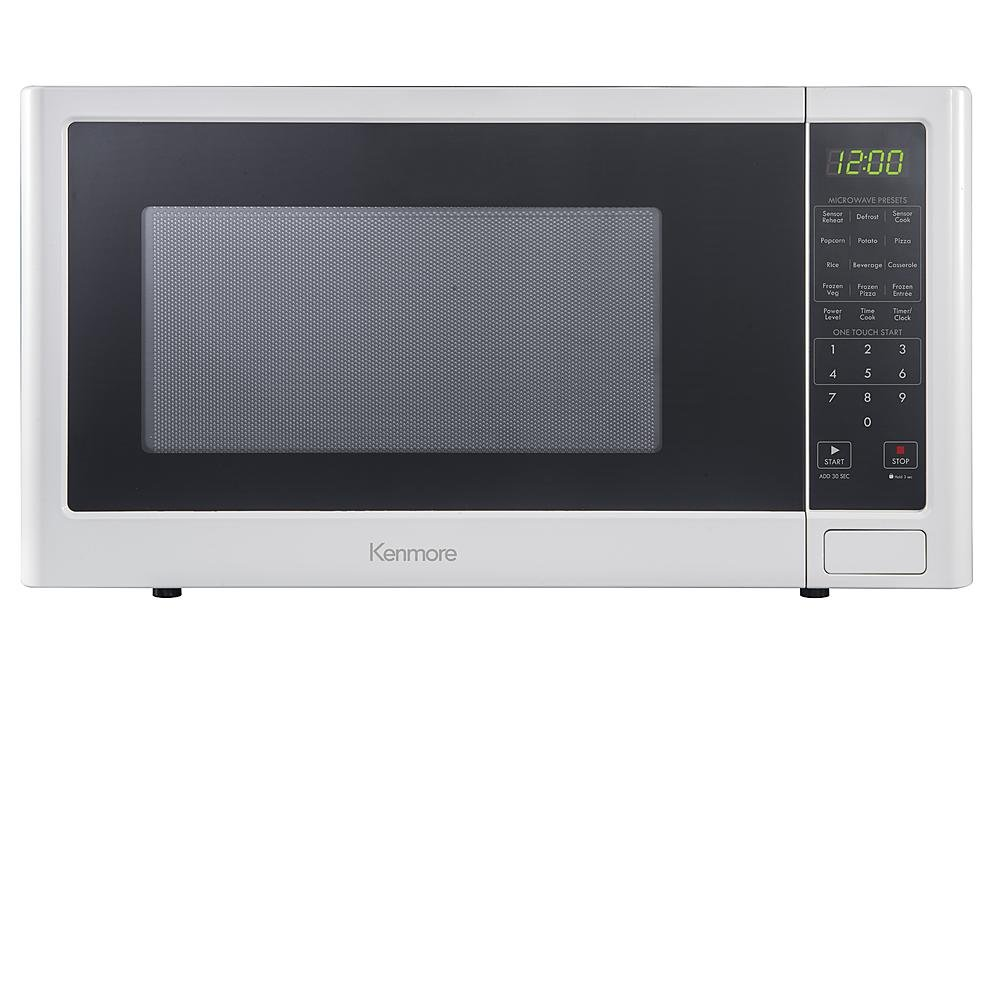 Kenmore 1.6 cu. ft. Countertop 1100 Watts Microwave Oven - White 76982