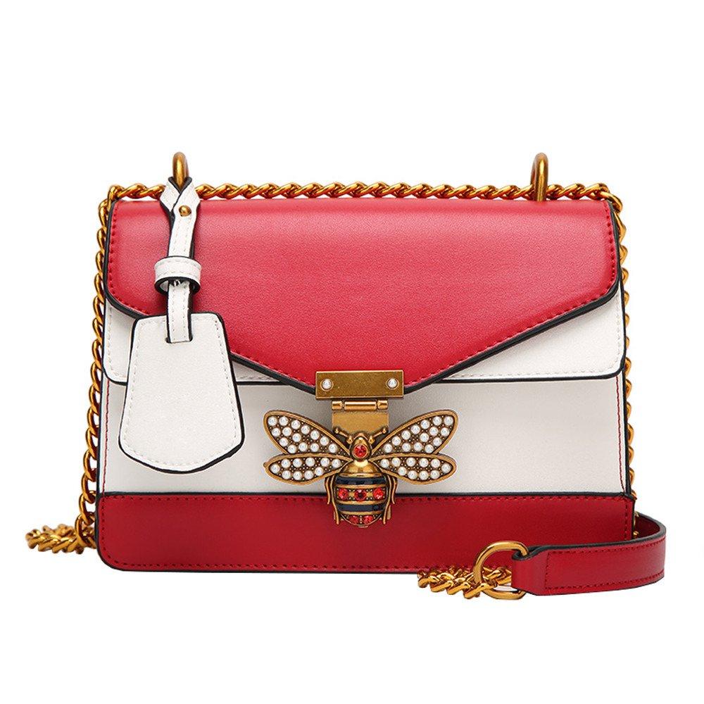 Smdoxi Bowknot Leather Purse Women Handbag Tote Leather Crossbody Shoulder Satchel Diaper Bag Travel Handbag Women Messenger Bag (Pink) (23X10X17CM, A04)