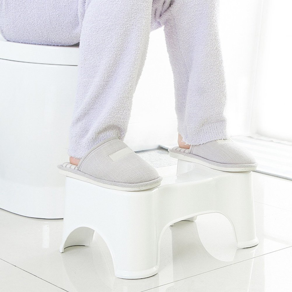 Squatting Toilet Stool, Luerme Potty Foot Rest Stool Non-Slip Bathroom Step up Stool Squat Aid for Constipation Piles Relief