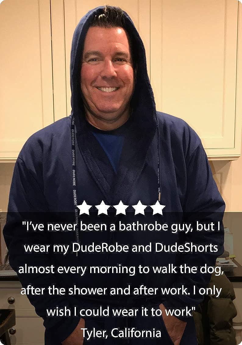 bf11ed08a3 DudeRobe Men s Hooded Towel-Lined Bathrobe