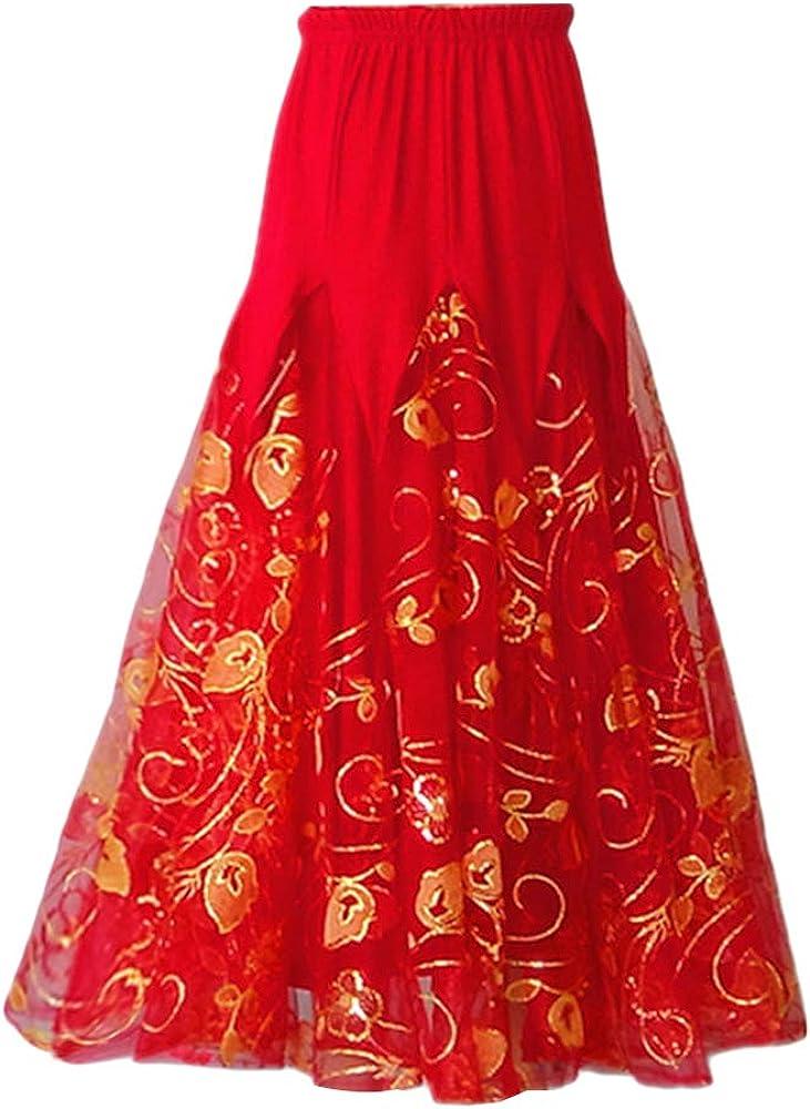 Haobing Faldas de Danza para Mujer Falda Danza del Vientre ...