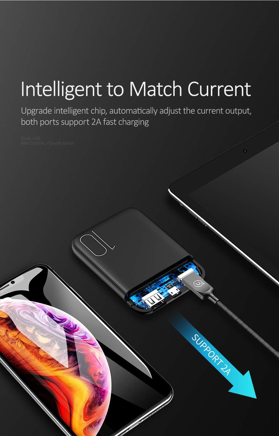 Amazon.com: USAMS 10000mAh Dual USB Ultra Alta Densidad ...