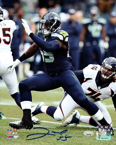Frank Clark Signed 8x10 Photo Seattle Seahawks - Autographed NFL Football Photos