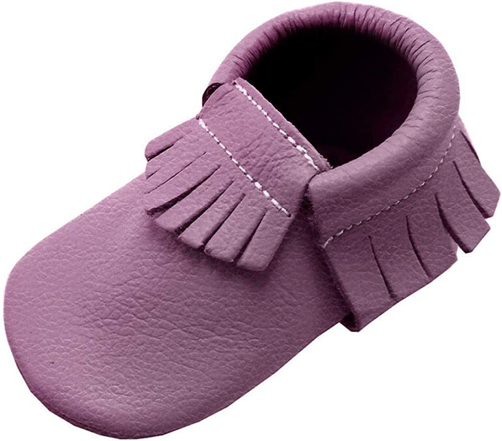 Yihakids Baby Moccasins Genuine Leather Infant Toddler Moccsin with Soft Sole.