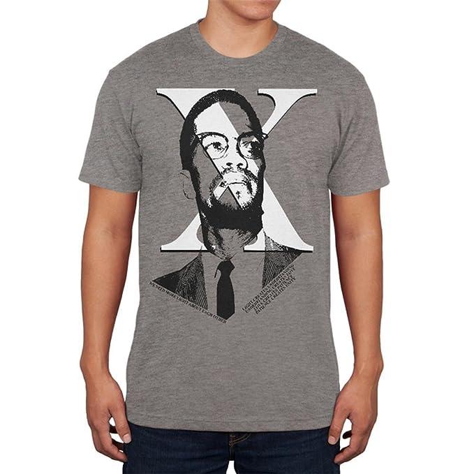 d79c4850 Amazon.com: Malcolm X More Light Quote Mens Soft T Shirt: Clothing