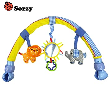lzn Newborn Crib Bed Hanging Bell//Rattles Toys Plush Lion//Monkey//Zebra Animal Clip Infant Baby Dolls For 0-2 Years Kids