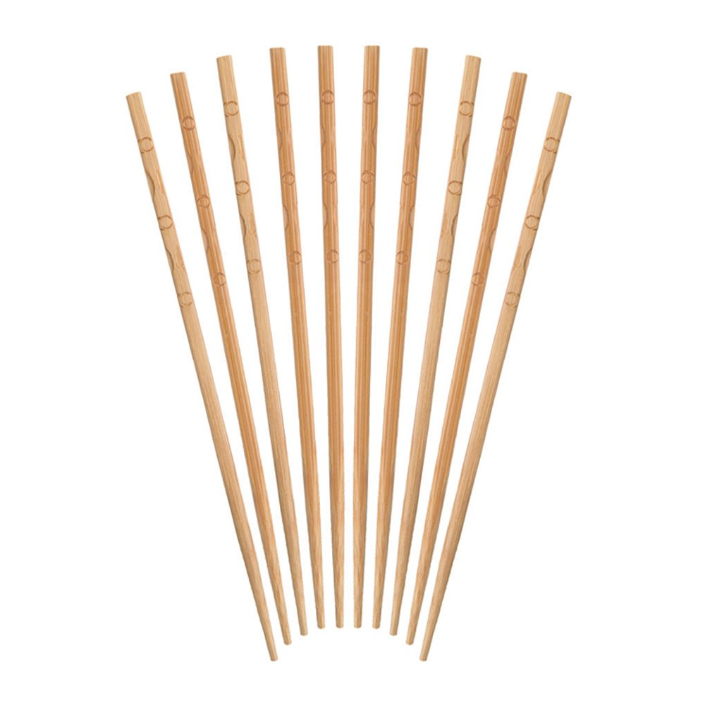 Bamboo KitchenCraft World of Flavours Japanese Style Wooden Chopsticks Pack of 10