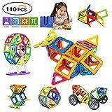 GvenTo Magnetic Blocks Building Set for Toddler/Kids, Magnetic Tiles Educational Toys for Boys/Girls (110 pcs)