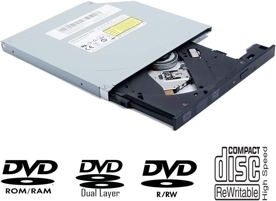 Laptop Internal Super Multi 8X DVD+-R DL Writer, for Lite-On PLDS DVD-RW DA8AESH DA-8AESH-24b DA-8AESH11B, Dual Layer 24X CD-RW Burner, Notebook PC Tray-Loading 9mm Slim SATA Optical Drive Replacement