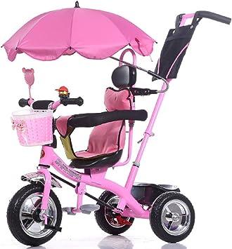 XHSLC Triciclos Carrito de bebé para niños Triciclo para niños Bicicleta 1-6 años Coche de bebé Grande para niñas de 3 Ruedas (Color: Rosa): Amazon.es: Deportes y aire libre