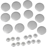 Baosity 12 Set NO-SEW Metal Tack Snap Jeans Buttons Copper Matte Silver 20mm