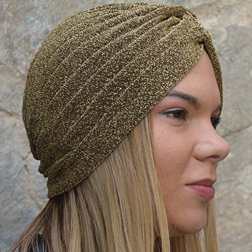 Mia Headwrap - RACEU ATELIER Turbant Mia Copper - Turban Headbands for Women - Headwrap Polyester Turban Hat - Hair Band Turban Headband - Hair Accessories For Women