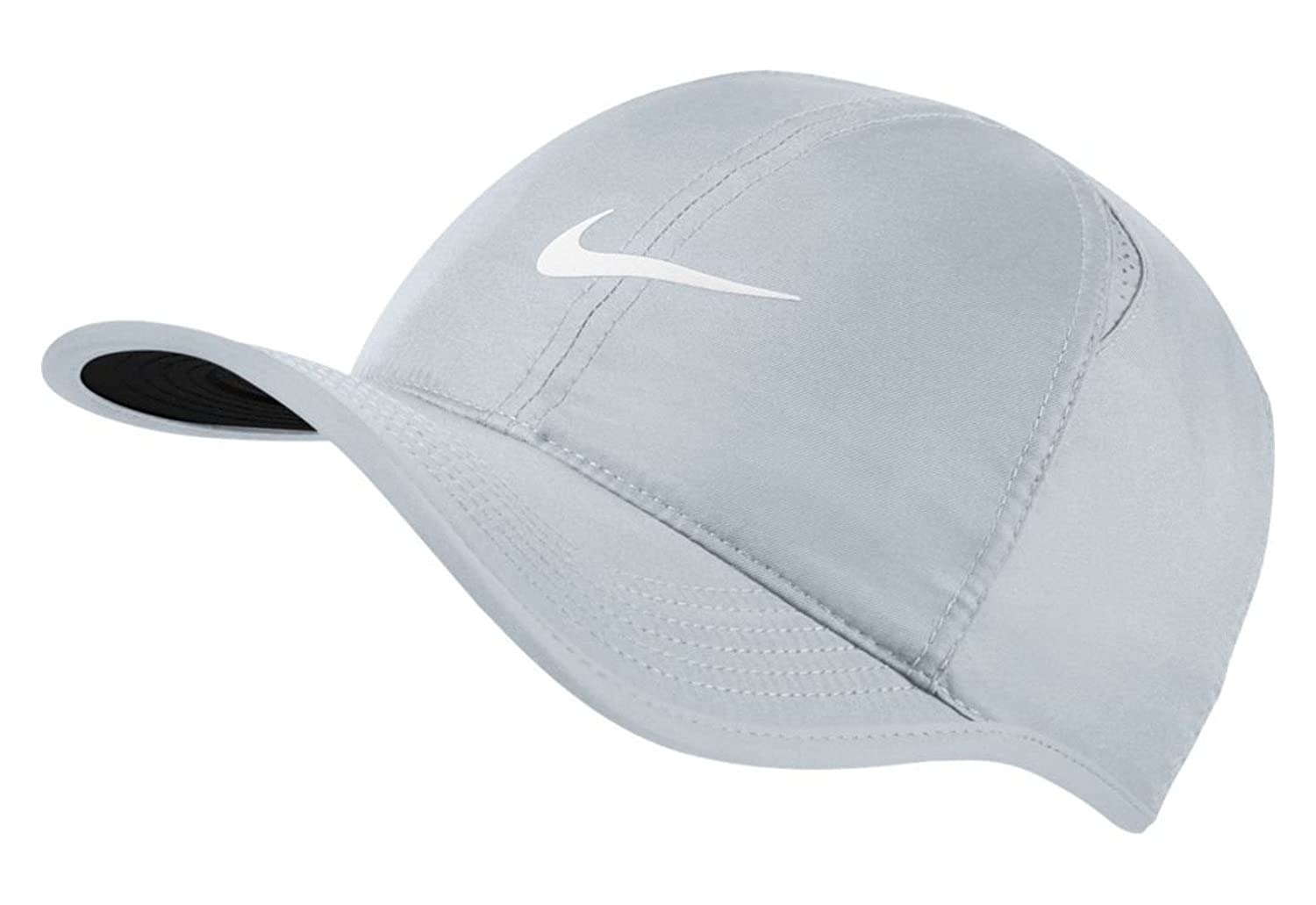 a5a44b6a Nike Men AroBill Featherlight Cap - Pure Platinum/Black/Pure Platinum/(White,  One Size: Amazon.co.uk: Sports & Outdoors