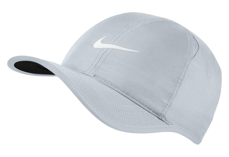5315cba4 Nike Men AroBill Featherlight Cap - Pure Platinum/Black/Pure Platinum/(White,  One Size: Amazon.co.uk: Sports & Outdoors