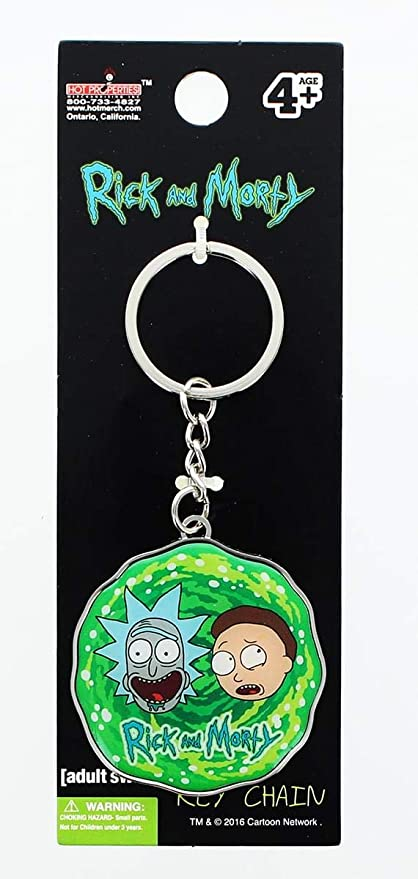 Amazon.com: RICK AND MORTY Metal Keychain: Portal: Automotive