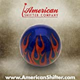 flame shifter knob - American Shifter 53775 Blue Shift Knob with Flames and Metal Flakes