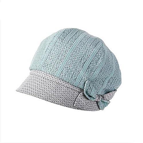 Chicas sombreros de moda de verano/boina de encaje/sombrero de la manera del arco-verde Ajustable