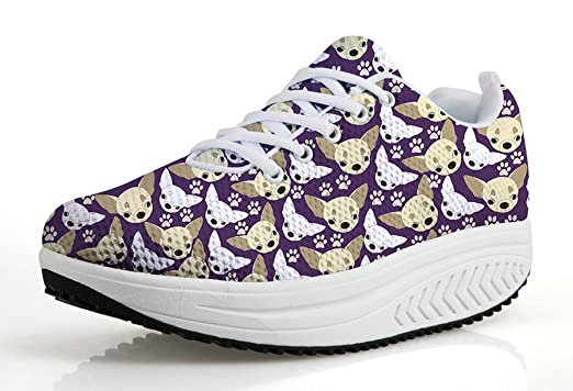 7de691249c70 Image Unavailable. Image not available for. Color  Mesh Purple Wedge Sport  Shoe Women Lightweight Fitness ...