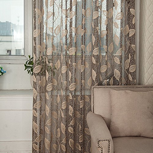 Sheer Curtains beige sheer curtains : Sheer Curtains for Living Room: Amazon.com