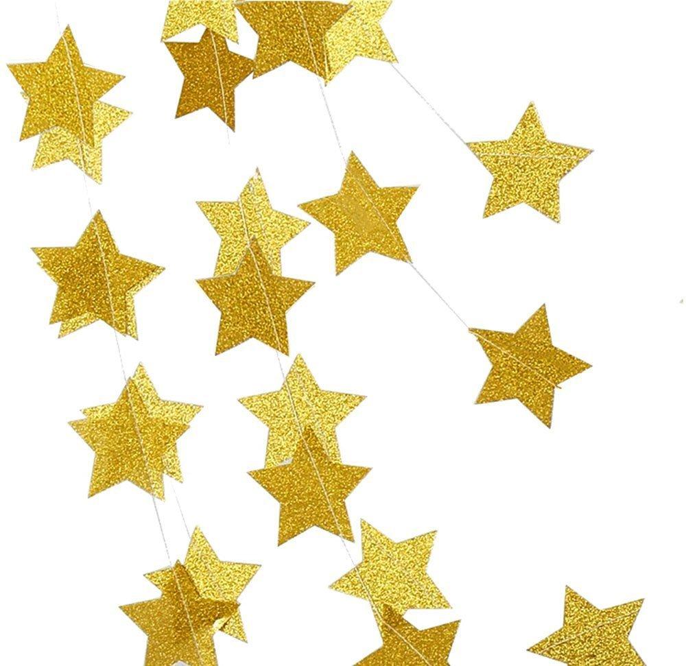 Amazon 26 Feet Gold Decoration Kitstar Paper Garlandstars