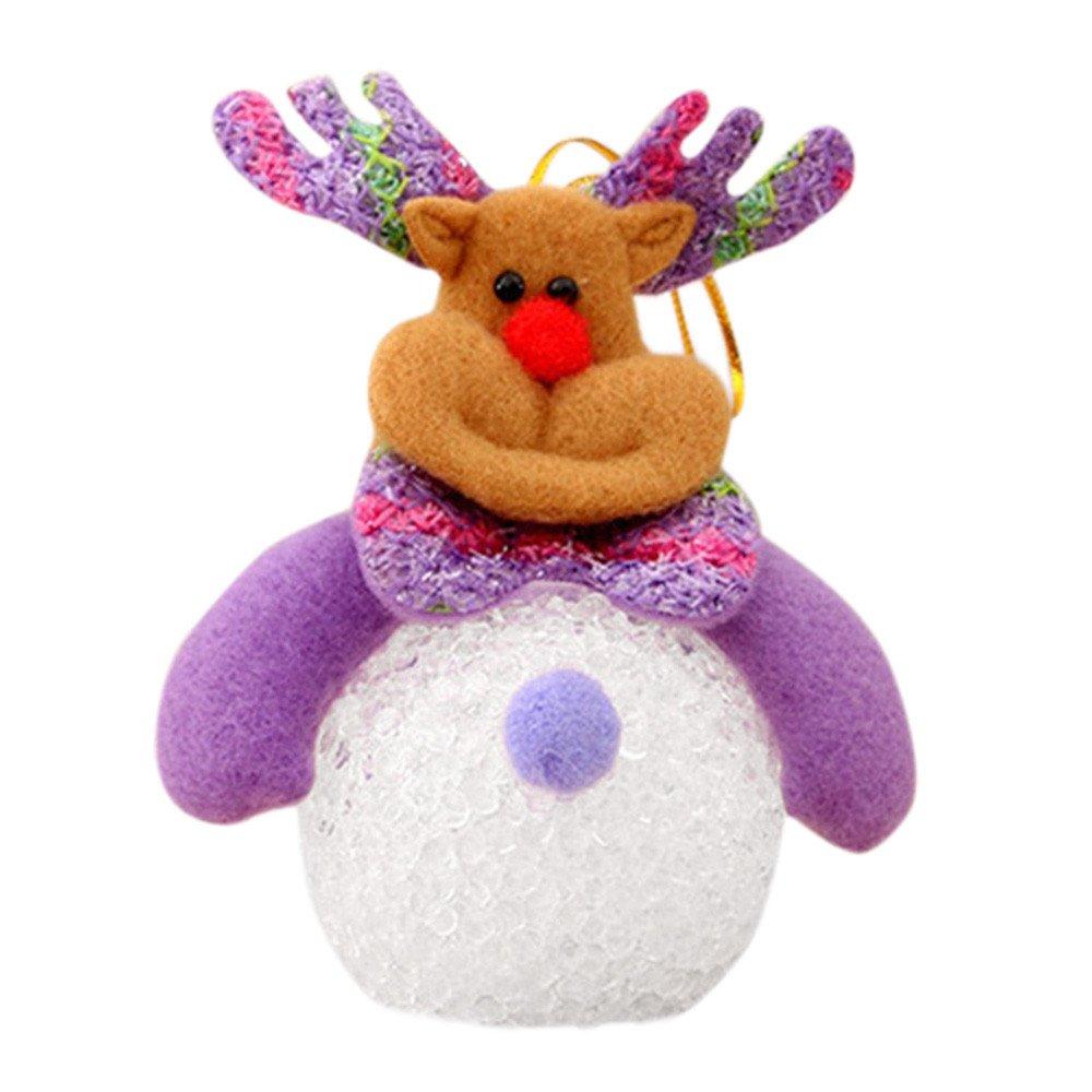 Mnyycxen EVA Little Snowman Night Light Christmas Tree Pendant Decoration (D)