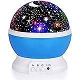 Night Light for Kids, Fortally Kids Night Light, Star Night Light, Nebula Star Projector 360 Degree Rotation - 4 LED Bulbs 12