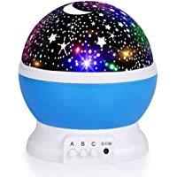 Kids Star Night Light, Baby Night Light Moon Star Projector 360-Degree Rotating Star Projector, Desk Lamp 4 LEDs 8…