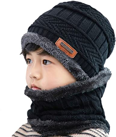 William Turner Kids Girls Boys Thermal Fleece Insulation Heat Control Warm Winter Beanie Hat