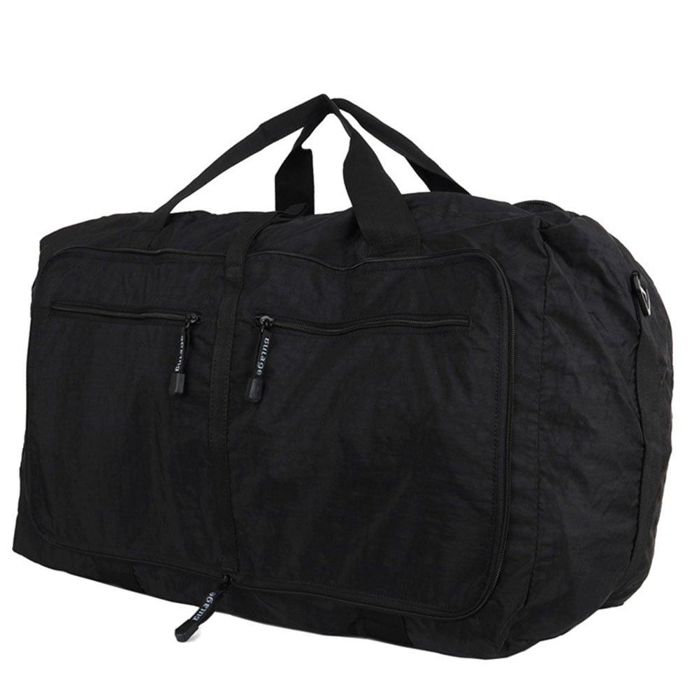 Color : Black Ybriefbag Unisex Waterproof Nylon Cloth Travel Bag Portable Shoulder Bag Large-Capacity Folding Storage Bag Vacation