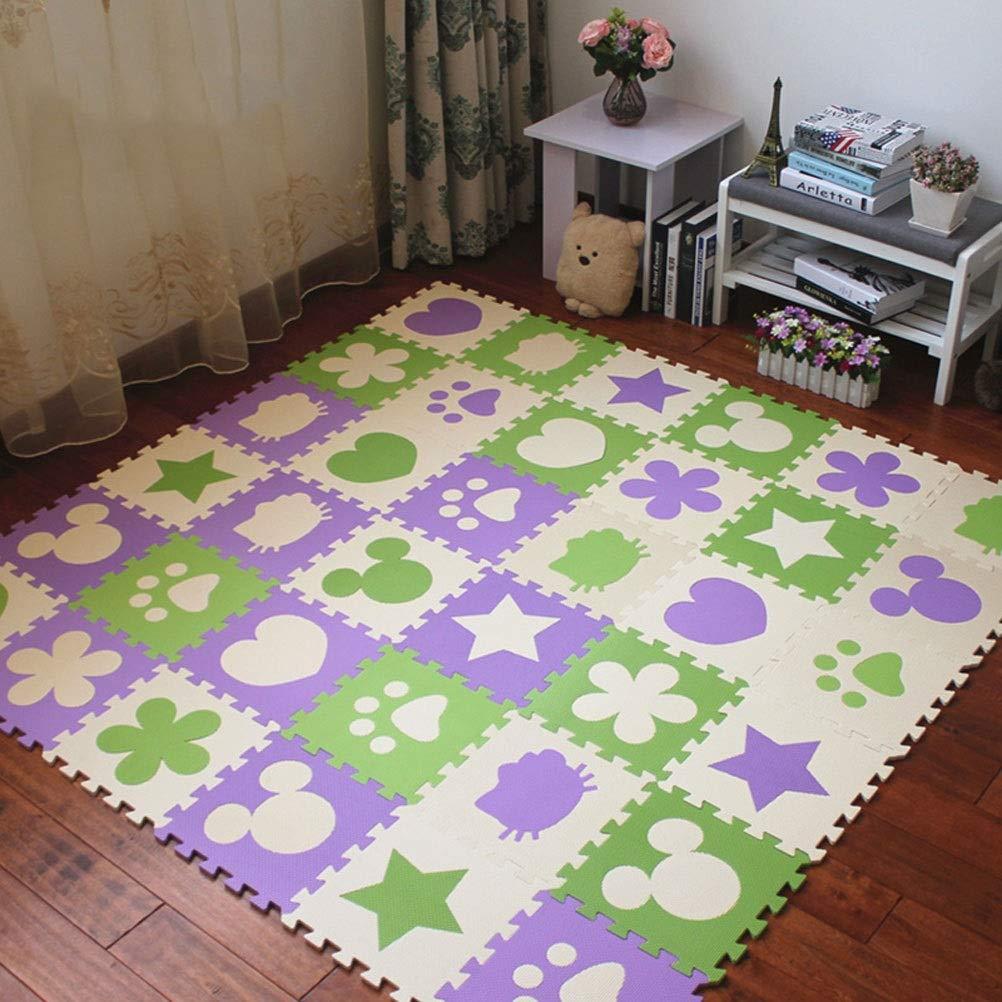 30.8x30.8x2cm72 pieces LUYIASI- Tapis, tapis mous de jeu de bébé de mousse d'EVA pour le plancher, pliable portatif de conseil de puzzle blanket (Taille   30.8x30.8x1cm42 pieces)