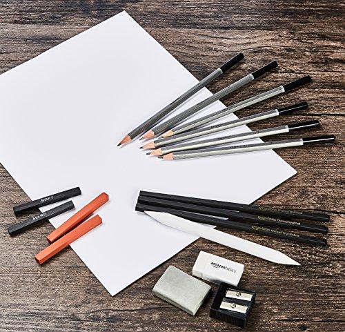 Amazon Basics Sketch and Drawing Art Pencil Kit – 17-Piece Set