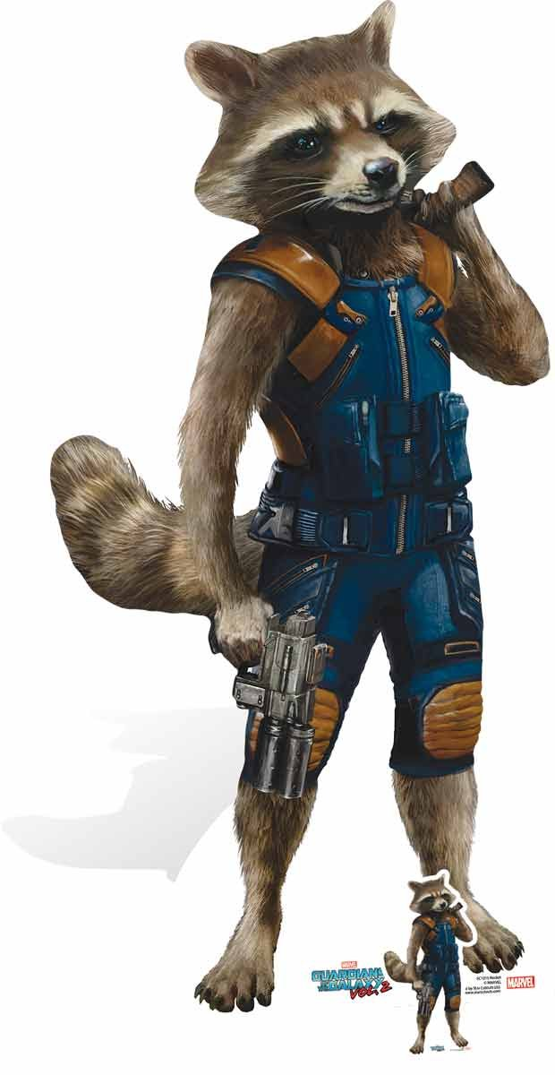 Marvel Rocket Raccoon Top Tier Marksman GOTG 5,1 cm Carton de la découpe, Multicolore STAR CUTOUTS LTD SC1015