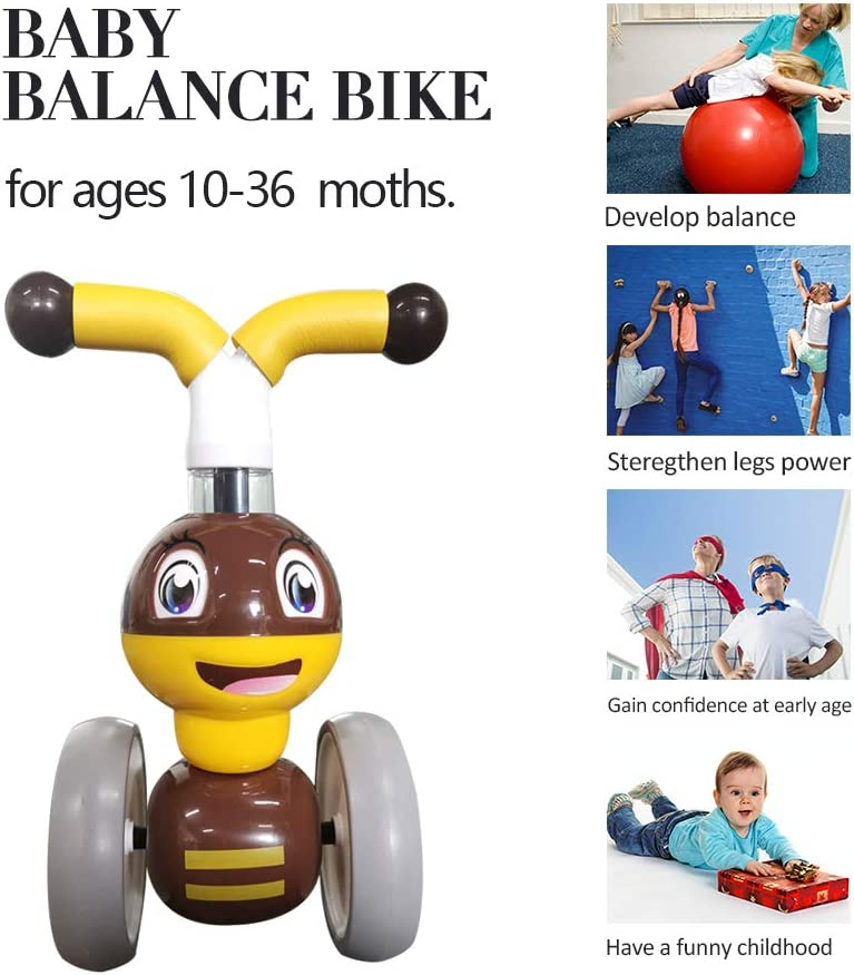 GRACEYCY Baby Balance Bikes Bicycle Baby Gifts for 1 Year Old Boys Girls Toddler Ride On Toys for 10 Months-24 Months Boys Girls Baby First Birthday Bike Thanksgiving Christmas