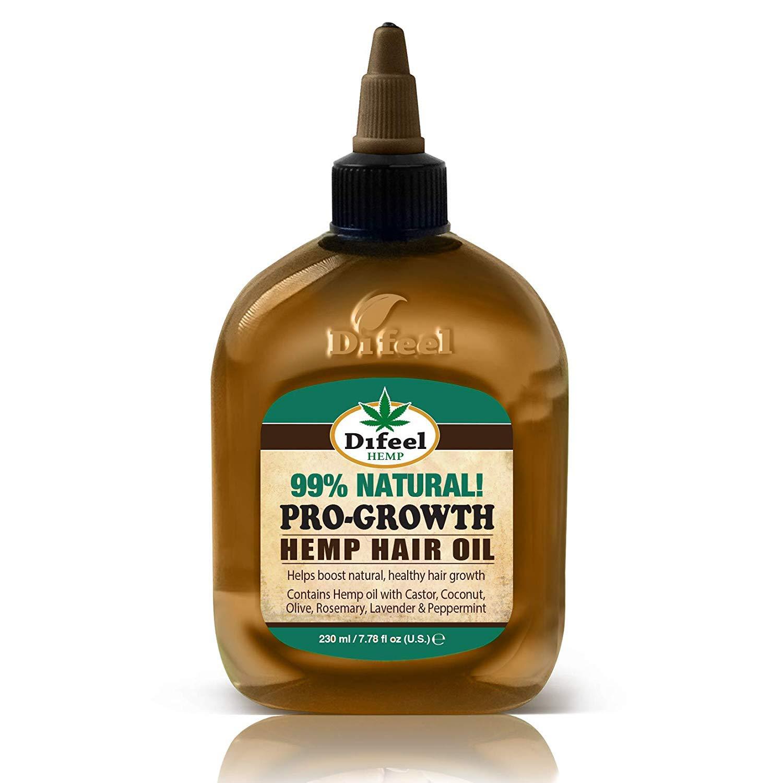 Difeel Hemp 99% Natural Hemp Hair Oil - Pro-Growth 7.78 ounce