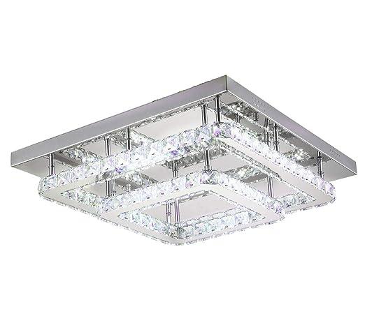 LED diseño cristal cristal lámparas plafón iluminación techo ...