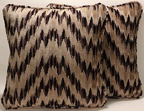 "Handmade Geometric Decorative Throw Pillows Set of 2 18""Blac"