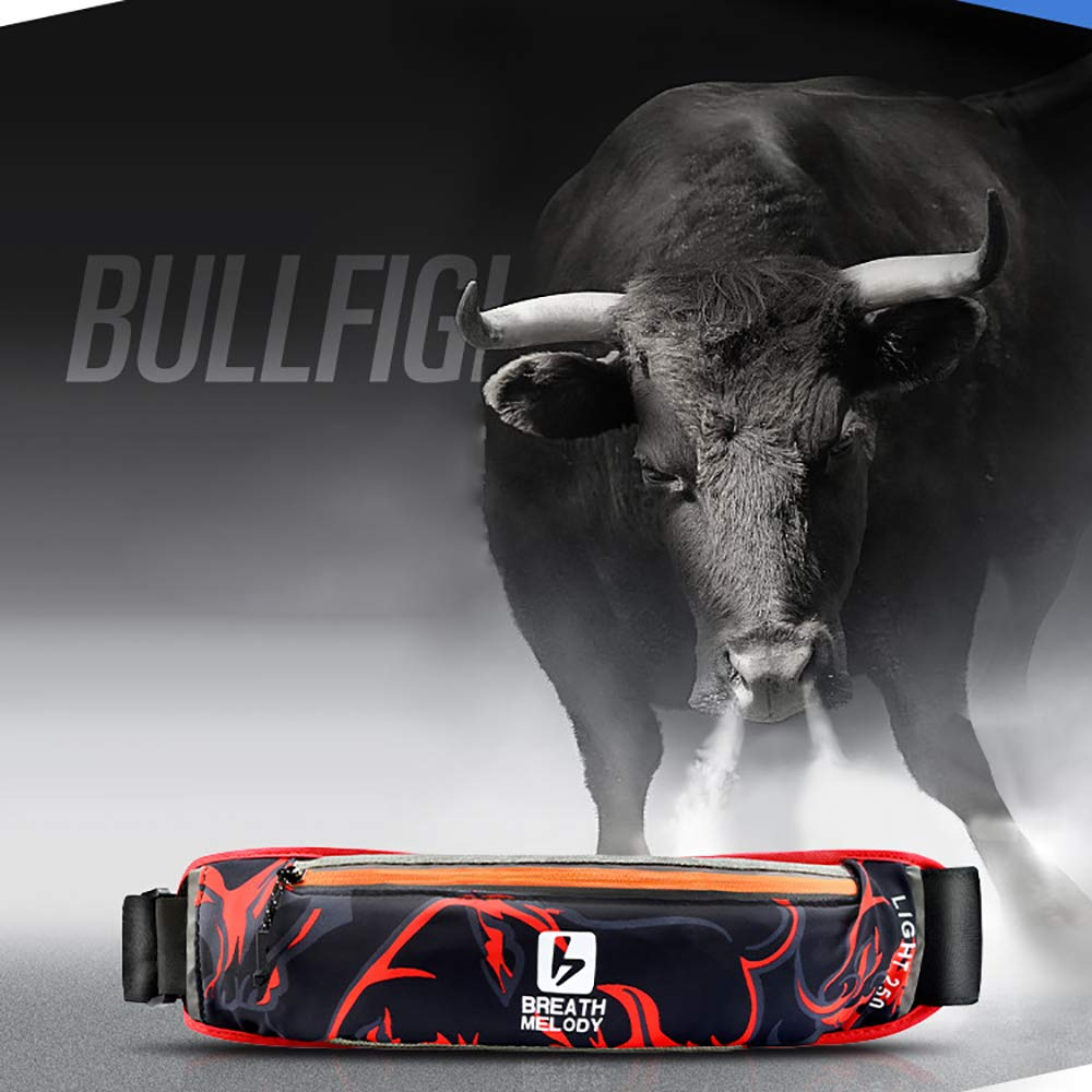 FGKING Fashion Cool Running Pouch Belt Runner Waist Pack fit All Kinds of Phones for Men and Womem with Adjustable andAnimal Pattern Design