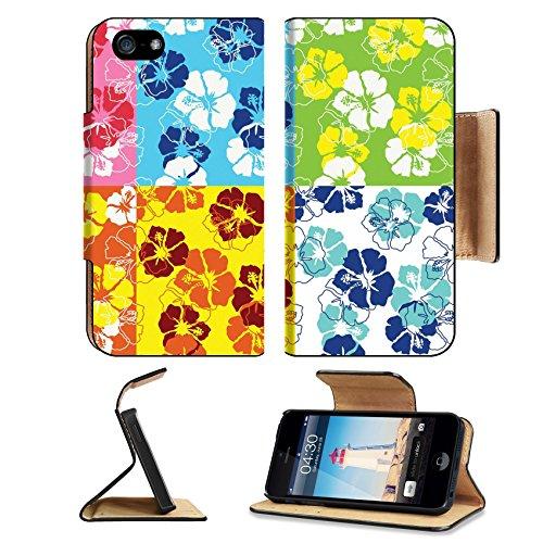 Surf Rug Longboard (Liili Premium Apple iPhone 5 iphone 5S Flip Pu Leather Wallet Case seamless fancy flouirsh background iPhone5 Photo 4452053 Simple Snap Carrying)