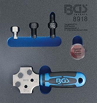 BGS 8918 Abocardador Profesional, DIN 4,75 mm y 3/16 ...