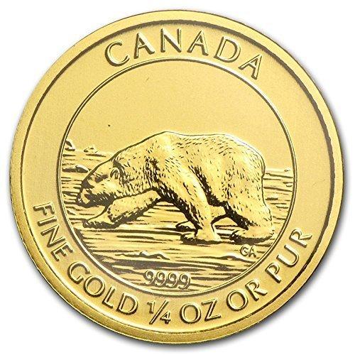2013 Ca Canada Polar Bear 1 4 25 Oz 9999 Gold Coin 10 Brilliant Uncirculated Ca At Amazon S