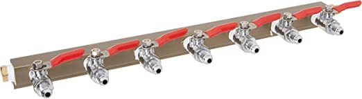 9-way MFL CO2 Distributor Manifold With Integrated Check Valves By The Weekend