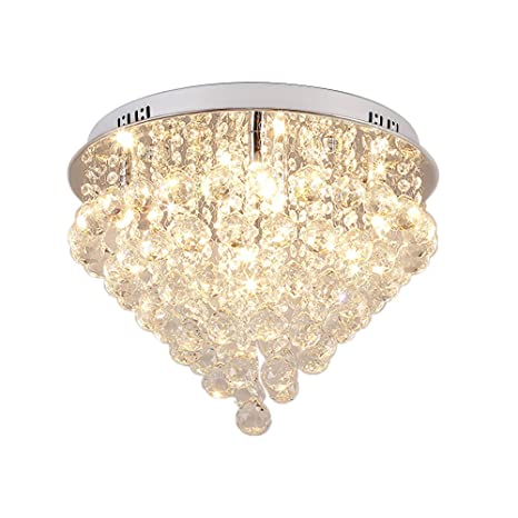 Lightess chandelier lighting flush mount crystal ceiling light 6 lightess chandelier lighting flush mount crystal ceiling light 6 light modern chandeliers round glass light aloadofball Choice Image