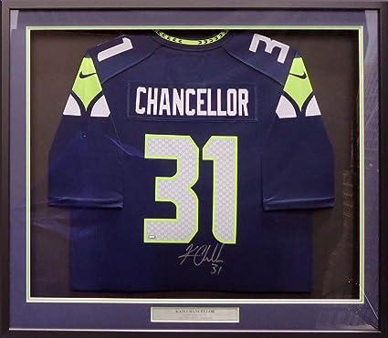 Amazon.com: Seahawks Kam Chancellor Autographed Framed Blue ...