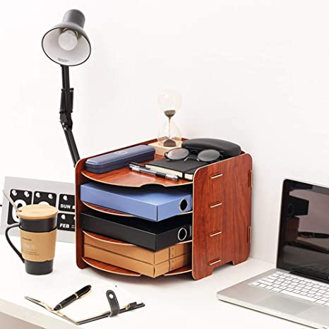 Creative Style - Soporte para archivadores de escritorio, organizador de caja, organizador de libros