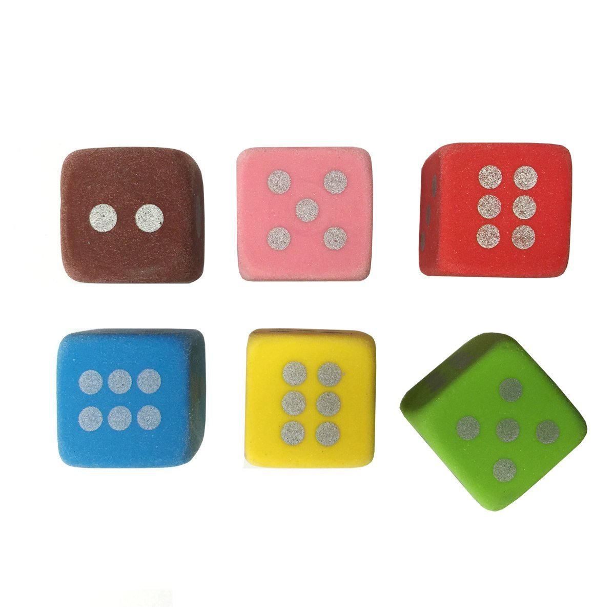 6-pcs Color Dice Eraser Set UNI Gifts Shop