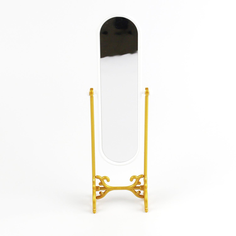 SODIAL espejo de vestido de los muebles miniatura precioso de Dollhouse para el regalo de la muneca finge los juguetes