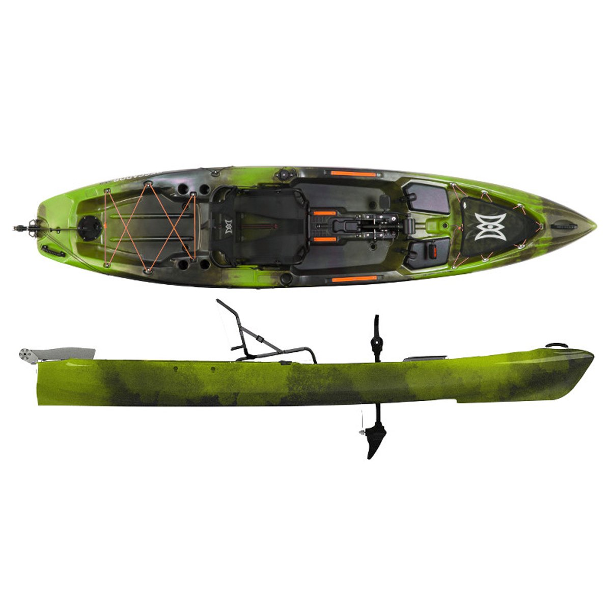 2017 Perception Pescador Pilot 12.0 Pedal Fishing Kayak (Moss Camo)