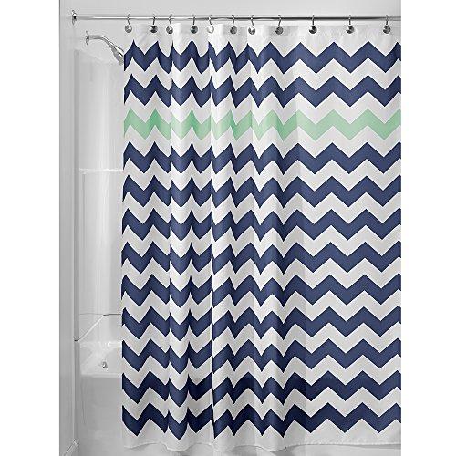 InterDesign Chevron Soft Fabric Shower Curtain, 72