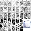 36PCs Letter and Number Stencils DIY Drawing Templates Journal Stencils with A Storage Bag for Notebook, Diary, Scrapbook