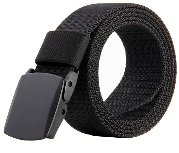 Men's Military Style Belt Nylon Belts No Metal Buckle Army Belts Webbing  Belts